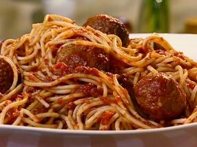 NY0211 Spaghetti with Turkey Meatballs