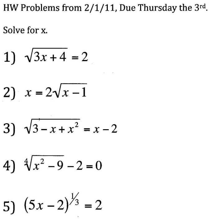 College Math Probs